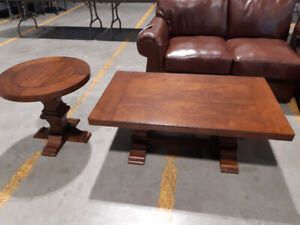 New Rustic Style Coffee And End Table