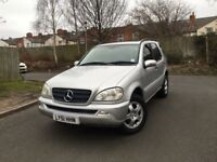 MERCEDES ML320 AUTOMATIC - LOW MILES -SERVICE HISTORY -ONLY 1 FORMER KEEPER - 2x KEYS -FREE DELIVERY
