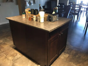 Base cabinets and counter tops