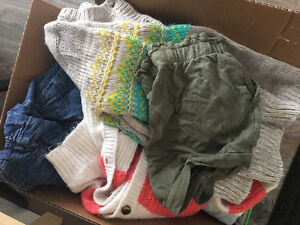 Box of toddler clothes