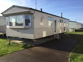 Cheap 3 bed static caravan DOUBLE GLAZED & HEATED Clacton Essex 8 berth