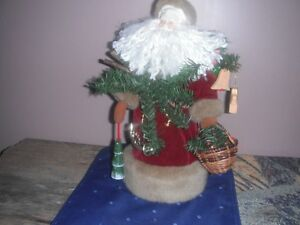 Tree Topper - Santa in Very Good Used Cond. Ceramic Head