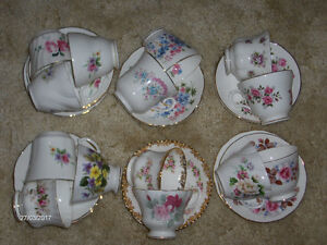 Various VINTAGE cups and saucers  EACH $10.00