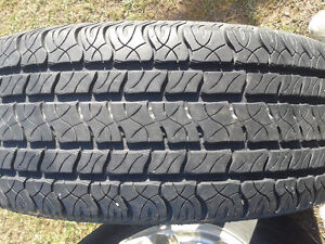 4 Cooper Tires and Factory 6 bolt Alloy rims