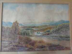 Charming Vintage Original Framed Watercolor painting 'Glengarry' London Ontario image 1