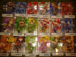 Looking to sell 15 amiibo's as bundle mint in box.