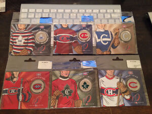 Complete SET 6 Montreal Canadiens Centennial 50 Cent Coin