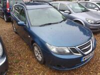 Saab 9-3 1.9TiD 150ps SportWagon Linear SE, Full History, Half Leather, Long Mot