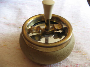 "VINTAGE ""ORIGINAL"" ROULETTE ASHTRAY MADE IN GERMANY BY SCHLEUDER"