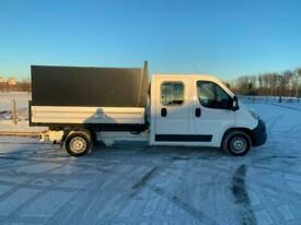 CITROEN RELAY 2.0 blueHDI DOUBLE CAB TIPPER 2017 17 REG 59,000 MILES 1 OWNER