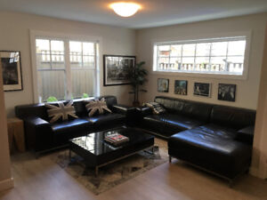 Sofas - 1 leather sofa and 1 leather sofa w/chaise