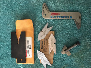 Starrett Center Gages, Drill point Gage and Screw Thread Gage