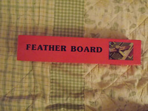 Wooden Feather Board-new in box