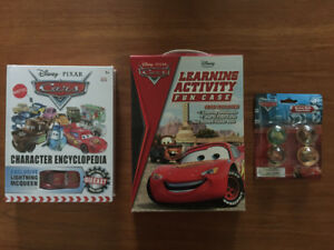 NEW Disney Cars Hardcover Book, Activities  Fun Case & Balls