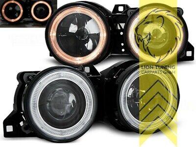2 x Scheinwerfer für BMW E30 83-87 2 Angel Eyes chrome V7K