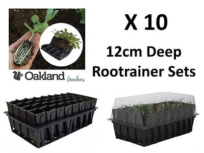 10 X Haxnicks Deep Rootrainer Set Root Trainer Books Cells Plug Plant Seed Tray