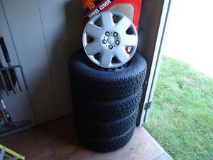 Snow Tires on Rims 215/70/16