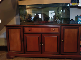 Dark wood sideboard / cupboard / cabinet / storage