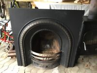 Cast iron fire place from victorian home