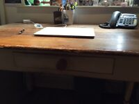 Victorian kitchen table/home office desk and drawer