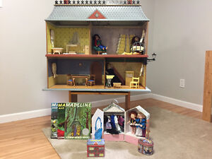 Madeline Large Doll House, Dolls, Wardrobes, and Books
