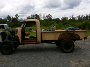 Chevy 3/4 ton pickup truck restoration project