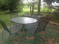 Wrought Iron Patio Table and Chairs