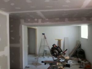 Drywall (dustless),  trim, paint and laminate/tile floor install Peterborough Peterborough Area image 4