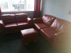 3 + 2 leather sofas ****sold****