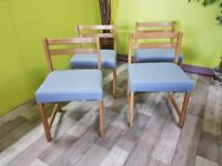 20% OFF SALE NOW ON* 4 Reupholstered Dining Chairs - Can Deliver For £19