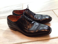 Men's SALVATORE FERRAGAMO TRAMEZZA Black Leather Dress Shoes