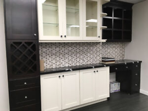 Espresso and Off White Shaker solid wood kitchen on Promotion!