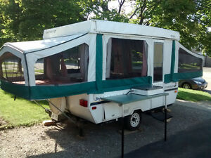 Tent trailer, for Labour Day wkd.