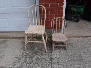Authentic Windsor-style wooden chairs