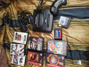 Sega and games and a Nintendo console
