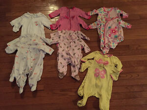 0-3m girl sleepers Kitchener / Waterloo Kitchener Area image 1