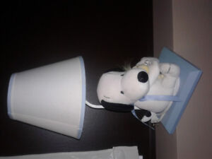 Plush Snoopy and Woodstock lamp
