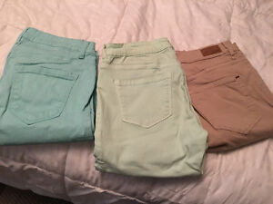 High wasted jeggings left to right: sizes 6,5,7