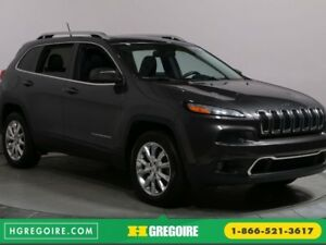 2015 Jeep Cherokee LIMITED MAGS BLUETHOOT CUIR CAMERA RECUL TOIT
