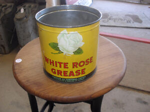 White Rose gallon can