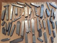 Various selection of lathe cutting steels