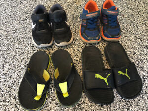 Size 12 toddler - youth boy - shoes runners sandals $20 FOR ALL
