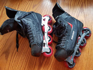 Men's size 12 and women's size 9 rollerblades