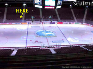 Canucks Pairs..2 seats close to the Visitors Bench