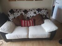Black and White 2 seater + 3 seater and corner