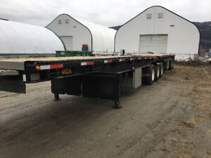 Doepker Convertable grain / Flat deck super b trailers