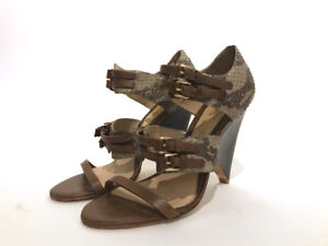 Leather Snake skin L.A.M.B. Sandals