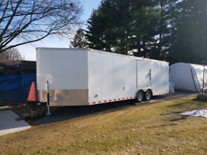28ft pace American enclosed car trailer  mint