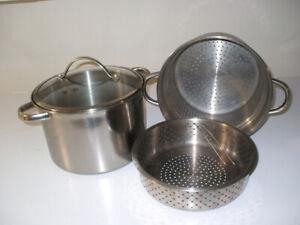 Aluminum Pot with double steamer
