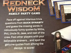 BRAND NEW DUCK DYNASTY REDNECK WISDOM FAMILY PARTY GAME London Ontario image 5